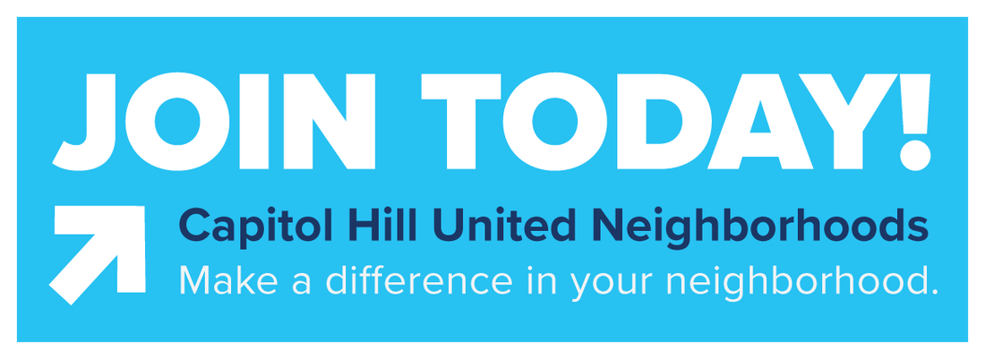 Join Today! Capitol Hill United Neighborhoods - Make a difference in your neighborhood.